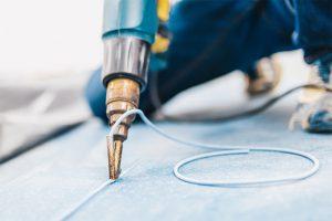 Linoleum ist auch zur Beschichtung auf Möbelüberflächen geeignet.