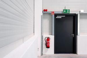 Kann Leben retten: Eine Brandschutztür.