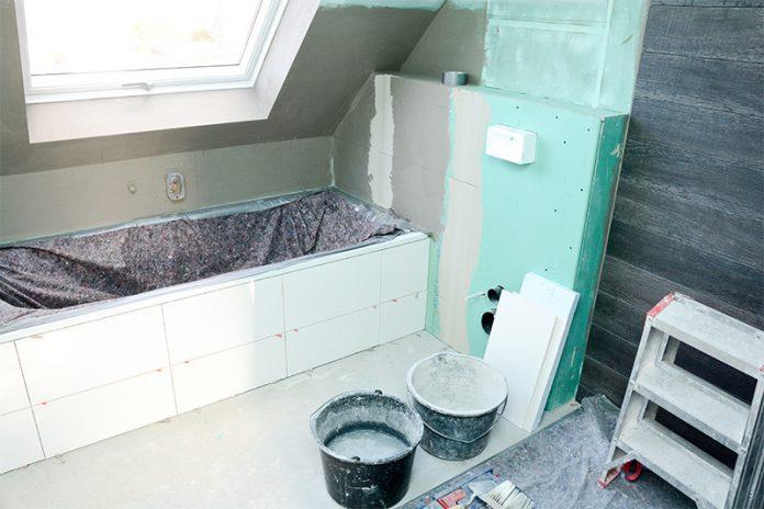 Bestechen durch imprägnierten Gipskarton: Feuchtraumplatten für die Badrenovierung.