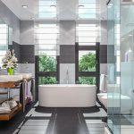 Mit der Verwendung verschiedener Badezimmer-Materialien können Sie Ihre Nasszelle in Szene setzen.
