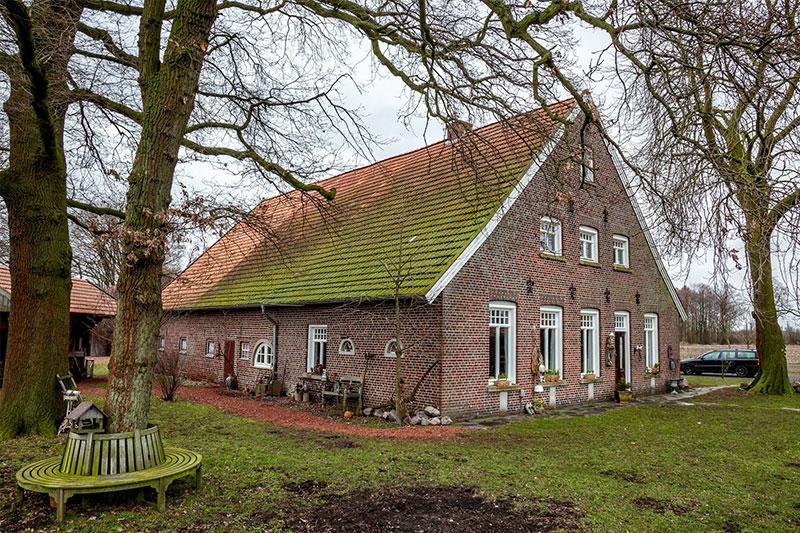 Vor der Erneuerung: Das Dach des über 100 Jahre alten Bauernhofs war sanierungsbedürftig.